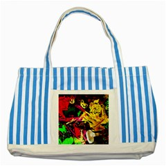 Spooky Attick 1 Striped Blue Tote Bag