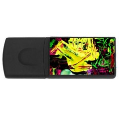 Spooky Attick 3 Rectangular Usb Flash Drive