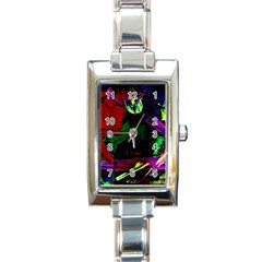Spooky Attick 4 Rectangle Italian Charm Watch
