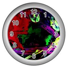 Spooky Attick 4 Wall Clocks (silver)  by bestdesignintheworld