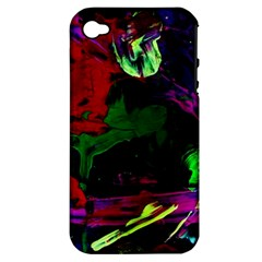 Spooky Attick 4 Apple Iphone 4/4s Hardshell Case (pc+silicone)