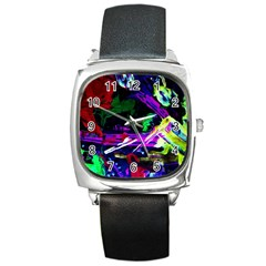 Spooky Attick 5 Square Metal Watch