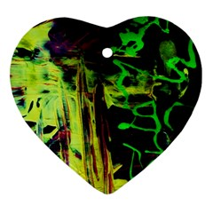 Spooky Attick 6 Heart Ornament (two Sides)
