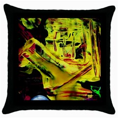 Spooky Attick 9 Throw Pillow Case (black)