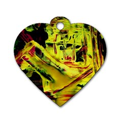 Spooky Attick 9 Dog Tag Heart (one Side)