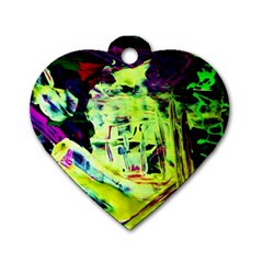 Spooky Attick 10 Dog Tag Heart (two Sides)