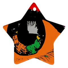 Eyes Makeup Human Drawing Color Star Ornament (two Sides)