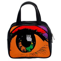 Eyes Makeup Human Drawing Color Classic Handbags (2 Sides)