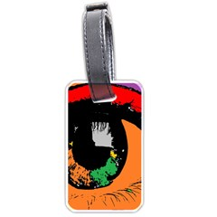 Eyes Makeup Human Drawing Color Luggage Tags (two Sides)