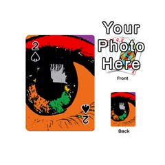 Eyes Makeup Human Drawing Color Playing Cards 54 (mini)