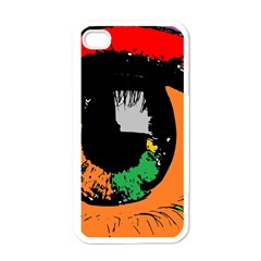 Eyes Makeup Human Drawing Color Apple Iphone 4 Case (white)