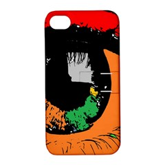 Eyes Makeup Human Drawing Color Apple Iphone 4/4s Hardshell Case With Stand