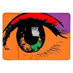Eyes Makeup Human Drawing Color Samsung Galaxy Tab 8 9  P7300 Flip Case