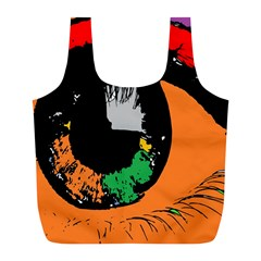 Eyes Makeup Human Drawing Color Full Print Recycle Bags (l)
