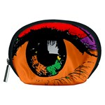 Eyes Makeup Human Drawing Color Accessory Pouches (Medium)  Front