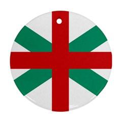 Naval Jack Of Bulgaria Ornament (round)
