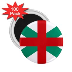 Naval Jack Of Bulgaria 2 25  Magnets (100 Pack)  by abbeyz71