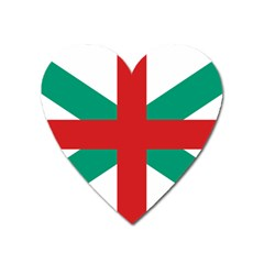Naval Jack Of Bulgaria Heart Magnet by abbeyz71