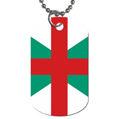 Naval Jack Of Bulgaria Dog Tag (two Sides) by abbeyz71