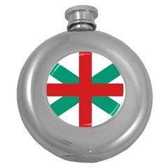 Naval Jack Of Bulgaria Round Hip Flask (5 Oz)