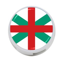 Naval Jack Of Bulgaria 4 Port Usb Hub (two Sides)