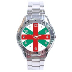 Naval Jack Of Bulgaria Stainless Steel Analogue Watch