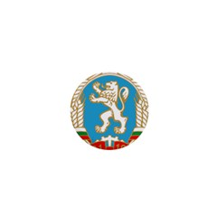 Coat Of Arms Of People s Republic Of Bulgaria, 1971 1990 1  Mini Buttons by abbeyz71