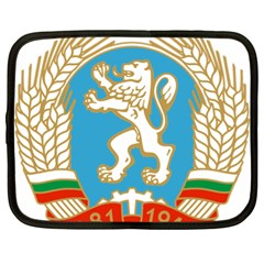 Coat Of Arms Of People s Republic Of Bulgaria, 1971 1990 Netbook Case (xl)