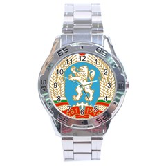 Coat Of Arms Of People s Republic Of Bulgaria, 1971 1990 Stainless Steel Analogue Watch by abbeyz71