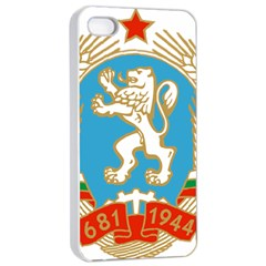 Coat Of Arms Of People s Republic Of Bulgaria, 1971 1990 Apple Iphone 4/4s Seamless Case (white)