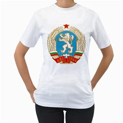 Coat Of Arms Of People s Republic Of Bulgaria, 1971 1990 Women s T Shirt (white)