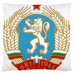 Coat Of Arms Of People s Republic Of Bulgaria, 1971 1990 Large Flano Cushion Case (two Sides)