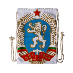 Coat Of Arms Of People s Republic Of Bulgaria, 1971 1990 Drawstring Bag (small)