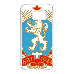 Coat Of Arms Of People s Republic Of Bulgaria, 1971 1990 Samsung Galaxy S7 White Seamless Case