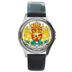 Coat Of Arms Of Bulgaria Round Metal Watch by abbeyz71