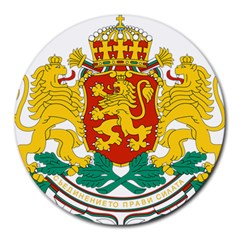 Coat Of Arms Of Bulgaria Round Mousepads by abbeyz71