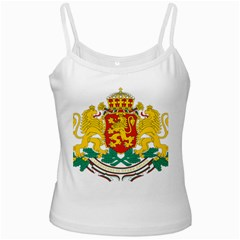 Coat Of Arms Of Bulgaria White Spaghetti Tank by abbeyz71