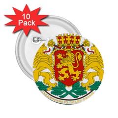 Coat Of Arms Of Bulgaria 2 25  Buttons (10 Pack)  by abbeyz71