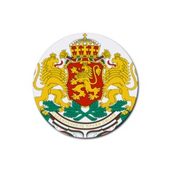 Coat Of Arms Of Bulgaria Rubber Coaster (round)