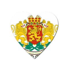 Coat Of Arms Of Bulgaria Heart Magnet by abbeyz71