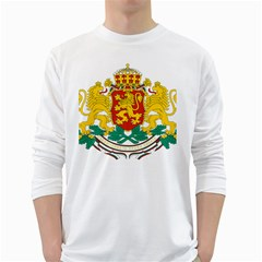 Coat Of Arms Of Bulgaria White Long Sleeve T Shirts