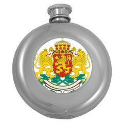 Coat Of Arms Of Bulgaria Round Hip Flask (5 Oz)