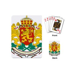 Coat Of Arms Of Bulgaria Playing Cards (mini)