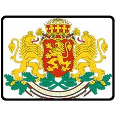 Coat Of Arms Of Bulgaria Double Sided Fleece Blanket (large)