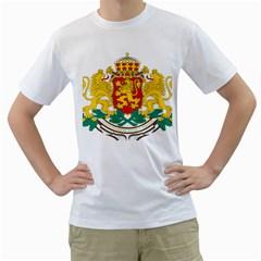 Coat Of Arms Of Bulgaria Men s T Shirt (white)