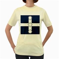 Eureka Flag Women s Yellow T Shirt