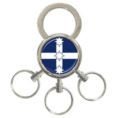 Eureka Flag 3 Ring Key Chains
