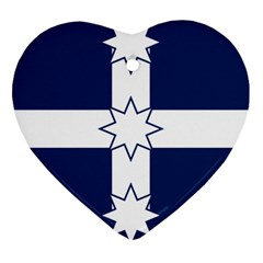 Eureka Flag Heart Ornament (two Sides) by abbeyz71
