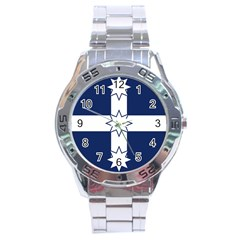 Eureka Flag Stainless Steel Analogue Watch