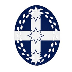 Eureka Flag Oval Filigree Ornament (two Sides)